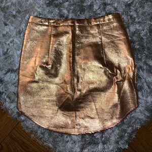 Nasty Gal Metallic Miniskirt